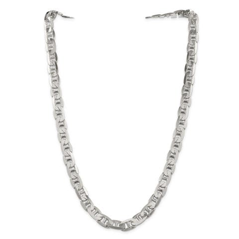 Versil Sterling Silver 9.5mm Anchor Chain - White