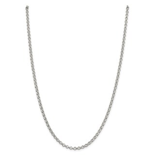 Sterling Silver 4mm Rolo Chain (3 options available)
