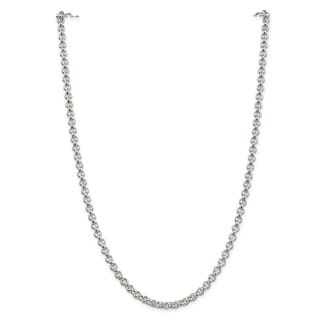Sterling Silver 5mm Rolo Chain - White