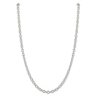 Versil Sterling Silver 5 3mm Oval Cable Chain