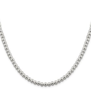 Versil Sterling Silver 5mm Beaded Box Chain