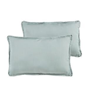Nyles Sunbrella Spa Blue Indoor/ Outdoor 13 x 20 Inch Flange Pillow Set