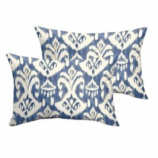 Rainford II Indigo/ Cream Indoor/ Outdoor 13 x 20 Inch Knife Edge Pillow Set