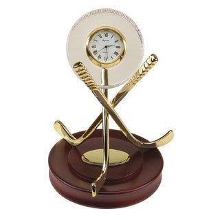 Heim Concept Crystal Hockey Clock with Wood Base