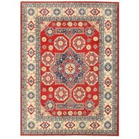 Herat Oriental Afghan Hand-knotted Vegetable Dye Kazak Wool Rug (9'8 x 12'10)