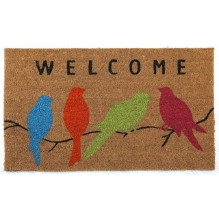 Welcome Birds Coir Door Mat (1'5x2'5)