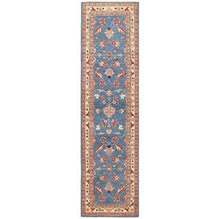 Herat Oriental Afghan Hand-knotted Vegetable Dye Oushak Wool Runner (2'8 x 9'10)