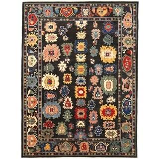 Herat Oriental Afghan Hand-knotted Vegetable Dye Oushak Wool Rug (9' x 12'2)