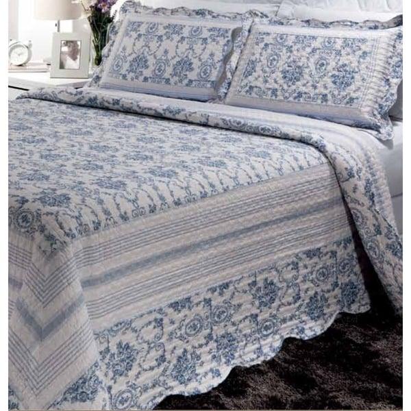 Blue Wisteria Lattice Quilt Set