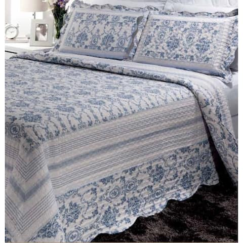 Blue Wisteria Lattice Quilt Set