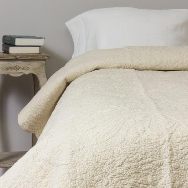 Cream Matelasse Cotton Quilt