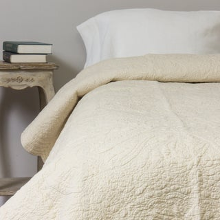 Cream Matelasse Cotton Quilt