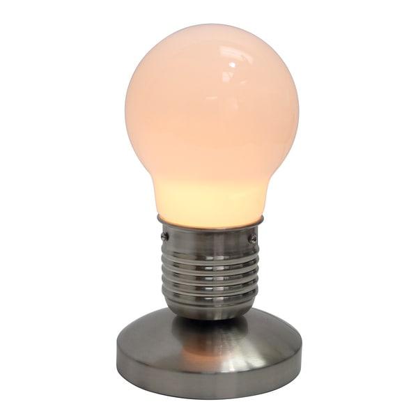 Simple Designs Edison Style Minimalist Idea Bulb Mini Touch Desk Lamp. Opens flyout.