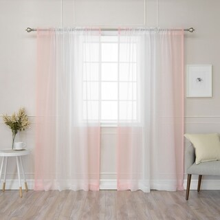 Buy Pink Ombre Sheer Curtains Online At Overstock