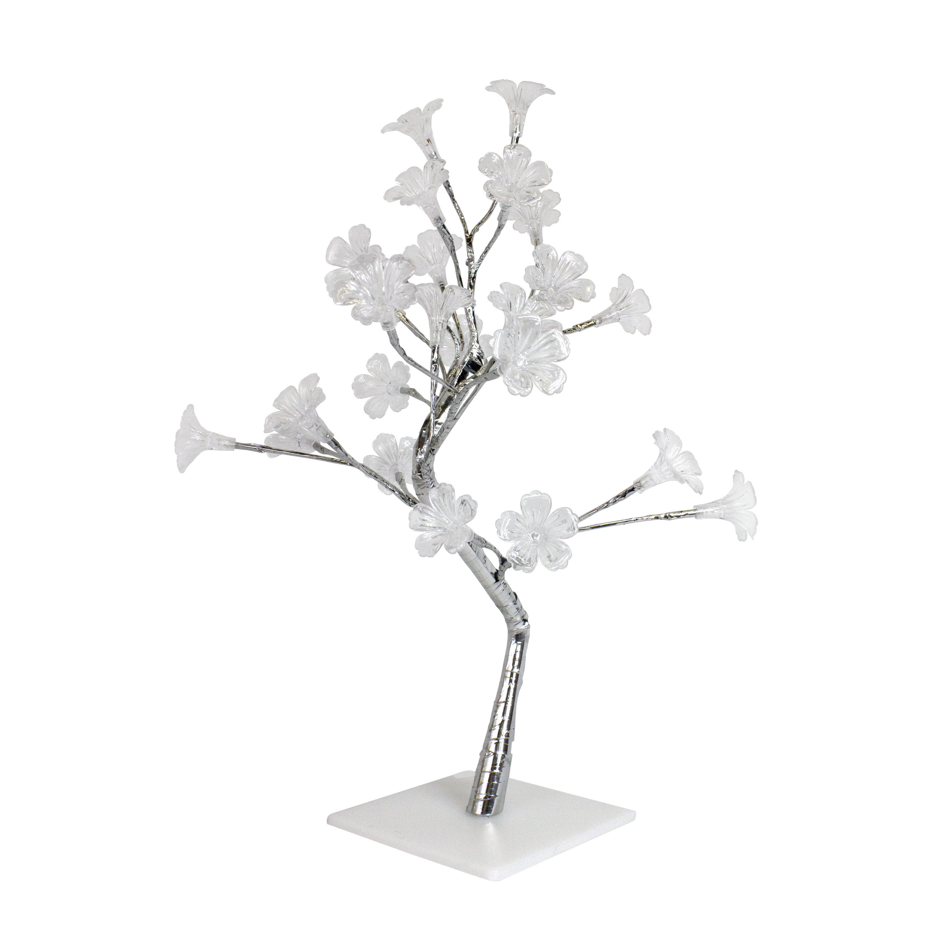 David Shaw Simple Designs Small White Morning Glory LED L...