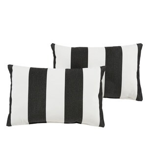 Duvall II Sunbrella Cabana Classic Indoor/ Outdoor 13 x 20 Inch Knife Edge Pillow Set