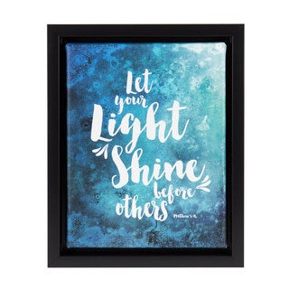 DesignOvation Sylvie 'Let Your Light Shine Before Others' Watercolor Framed Canvas Art