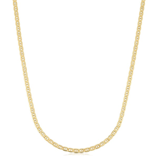 52fd2e5619b89 Shop 18k Yellow Gold 2.4-mm Semi Solid Mariner Link Chain Necklace ...