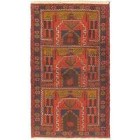ecarpetgallery Hand Knotted Herati Red Wool Rug - 3'6 x 6'2