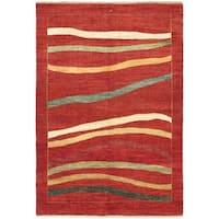 ecarpetgallery Hand Knotted Finest Ziegler Chobi Red  Wool Rug (5'4 x 7'10)