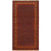 ecarpetgallery Hand Knotted Herati Red  Wool Rug (3'6 x 6'7)