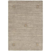 ecarpetgallery Hand Knotted Luribaft Gabbeh Riz Grey Wool Rug - 4'1 x 5'10