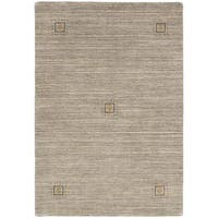 ecarpetgallery Hand Knotted Luribaft Gabbeh Riz Grey Wool Rug