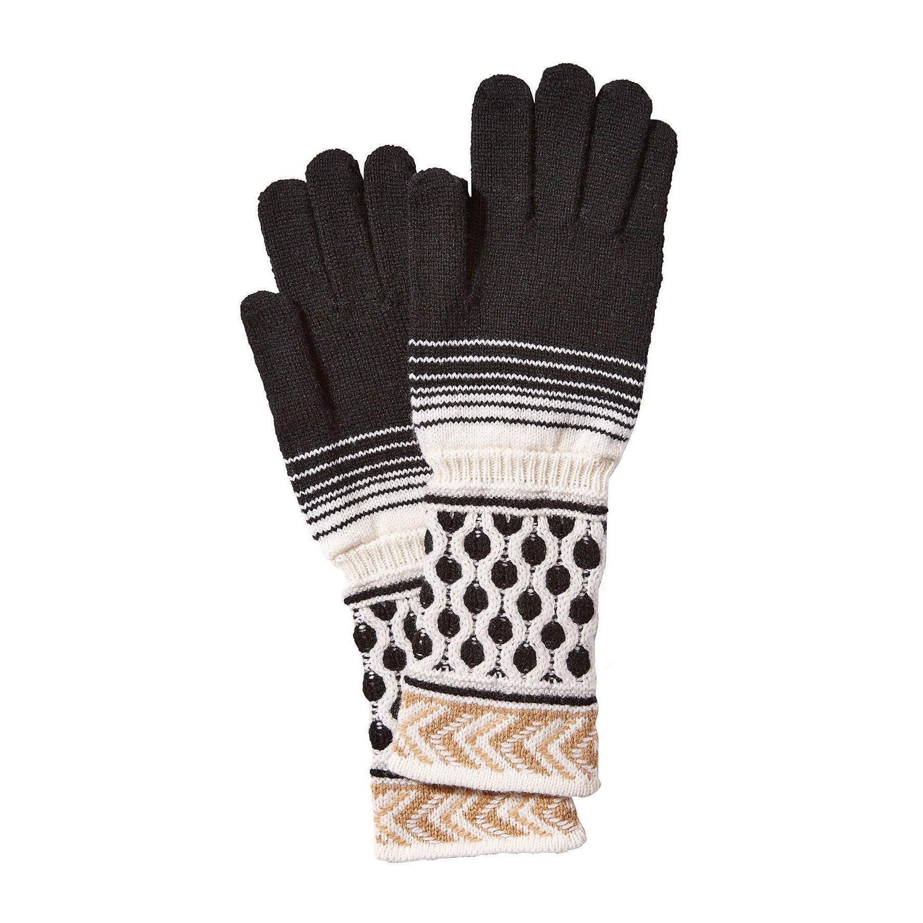 Missoni Black and Beige 100% Wool Gloves (Missoni Gloves)...