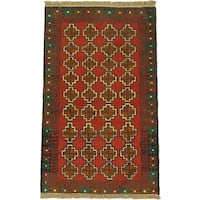 ecarpetgallery Hand Knotted Herati Red  Wool Rug (2'8 x 4'5)