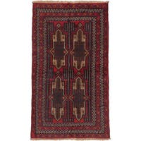 ecarpetgallery Hand Knotted Bahor Red Wool Rug - 3'5 x 5'10