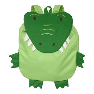 Green Sprouts On Safari Green Crocodile Backpack