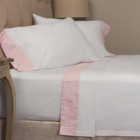 Pink Stripe Pillowcase Set