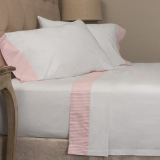 Pink Stripe Pillowcase Set