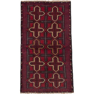 ecarpetgallery Hand Knotted Bahor Red  Wool Rug (3'8 x 6'5)