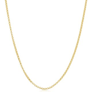 Fremada 18k Yellow Gold 1.5-mm Rolo Adjustable Length Chain Necklace