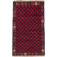 ecarpetgallery Hand Knotted Herati Red Wool Rug - 2'8 x 4'6