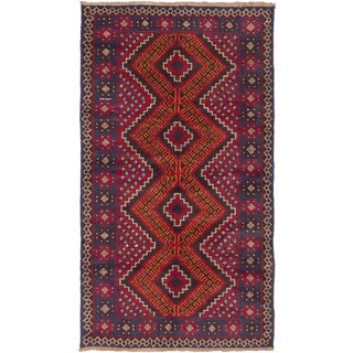 ecarpetgallery Hand Knotted Kazak Brown, Red Wool Rug - 3'5 x 6'3