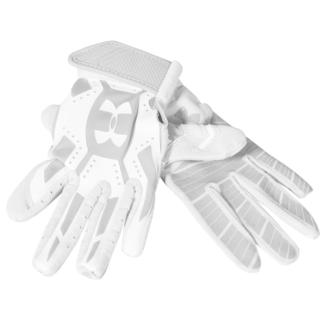 Under Armour Youth Boys' Motive Grey/White Synthetic Fiber Batting Gloves