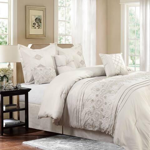 Registry Ivory 7-piece Embroidered Comforter Set
