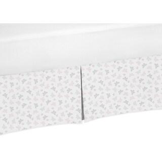 Sweet Jojo Designs Alexa Collection Mini Butterfly Print Crib Bed Skirt