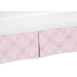 Sweet Jojo Designs Alexa Collection Butterfly Damask Print Crib Bed Skirt