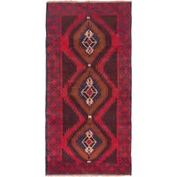 ecarpetgallery Hand Knotted Kazak Red Wool Rug - 3'5 x 6'8