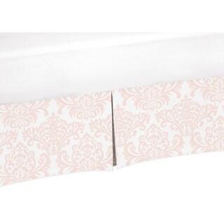 Sweet Jojo Designs Amelia Collection Pink Damask Print Crib Bed Skirt
