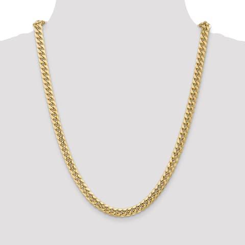 14K Yellow Gold Hollow Miami Cuban Chain by Versil