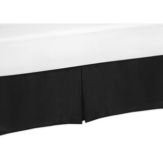 Sweet Jojo Designs Trellis Collection Black Microfiber Crib Bed Skirt