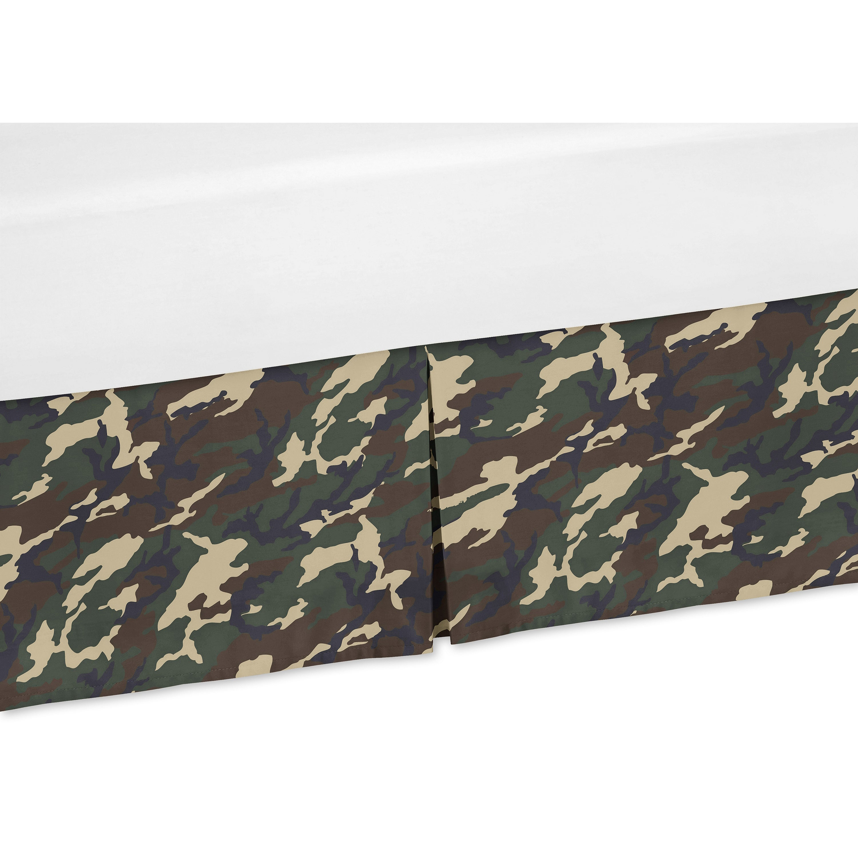 JoJo Designs Green Camo Collection Crib Bed Skirt (Crib S...