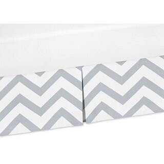 Sweet Jojo Designs Grey and White Chevron Collection Crib Bed Skirt