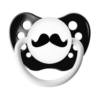 Ulubulu Black Mustache Classic Expression 0-6 Months Pacifier