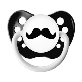 Ulubulu Black Mustache Classic Expression 0-6 Months Pacifier