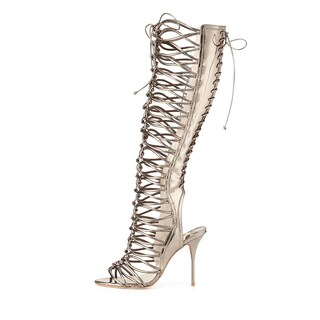 Sophia Webster Metallic Gladiator Boots 38
